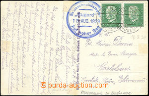 43828 - 1929 NĚMECKO pohlednice lodi Rugard vyfr. zn. Mi.2x 411, DR