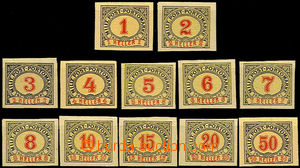 43845 - 1904 porto Mi.1-12, Postage due stmp complete set  on stamp