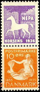 43863 - 1935 Mi.224 with advertising coupon at top NEPA Horsens 1936