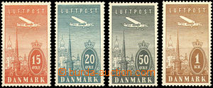 43866 - 1934 Mi.217-221, air-mail, cat. 32€
