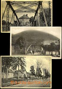 43879 - 1935? sestava 3ks fotopohlednic, 2x Ťačovo (most přes Tisu a
