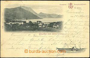 43884 - 1897 Gmunden,  B/W postcard for pasažéry přepravované st