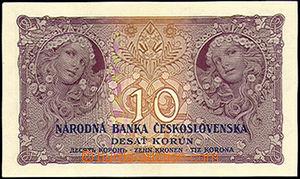 43888 - 1927 ČSR   bankovka 10Kč (Ba.22D), neperforovaná, série N, k