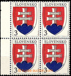 43921 - 1993 Zsf.2 State Coat of Arms   as blk-of-4 with sheet margi