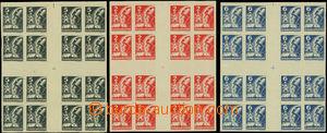 43928 - 1945 Pof.354Mx, 355Mx, 356Mx, Košické vydání - velké kříže,