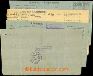 43948 - 1903-23 comp. 4 pcs of court reply receipts with postal agen