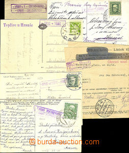 43952 - 1909-44 comp. 6 pcs of various entires with postal agency pm