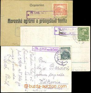 43954 - 1916-39 comp. 3 pcs of various entires with postmarks Postal