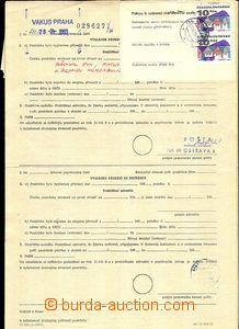 43960 - 1993-97 sestava 5ks poptávacích listů (pátrání po poš