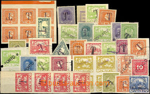 43965 - 1918-19 selection of 40 pcs of Austrian stamp. and stamp. Hr