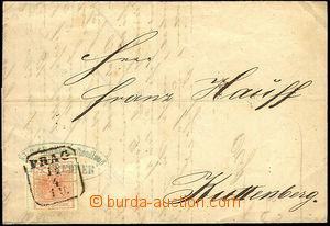 43990 - 1857 předchůdce perfinů - skládaný dopis vyfr. zn. I.em