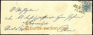 43994 - 1850 obal ze skládaného dopisu vyfr. zn. I.emise 9Kr, typ