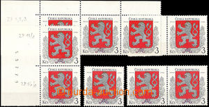 43996 - 1993 Pof.1, comp. of 6 various plate variety after/behind po