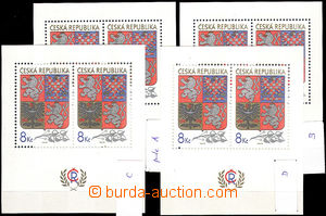 44004 - 1993 Pof.A10, all folder A,B,C,D, mint never hinged, c.v.. 3