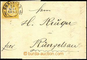 44013 - 1862 skládaný dopis vyfr. zn. 3Kr, Mi.17y s pěkným DR Ö