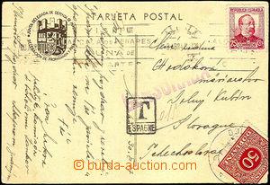 44014 - 1937 ŚPANĚLSKO  propagační pohlednice od slovenského (!