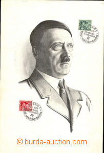 44022 - 1938 SUDETENLAND  first day sheet with portrait of A. Hitler