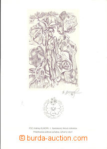 44024 - 1997 print - line drawing stamp. EUROPA I. and Jánošík wi