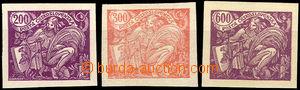 44046 - 1920 Pof.165N + 166N + 169N, 3 pcs of without perf, 1x exp.
