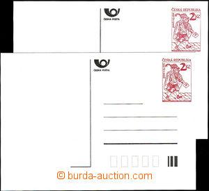 44068 - 1993 CDV2xa, Poštovní posel, papír bp, sestava 2ks dopisn