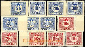 44118 - 1939 Alb.D1y-D12y, Postage due stmp with vertical grid, c.v.