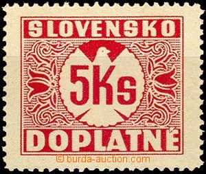 44120 - 1939 Alb.D10y, Postage due stmp 5 Koruna with vertical grid