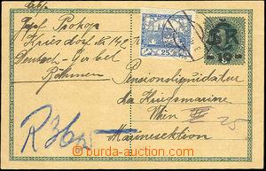 44145 - 1919 CDV1 zaslaná jako R do Vídně, dofr. zn. Hradčany 25