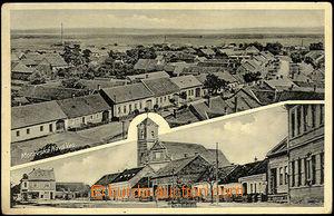 44189 - 1937 Moravská Nová Ves - čb 2záběrová, celkový pohled a námě