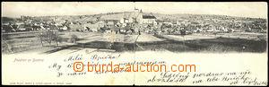 44192 - 1907 Bzenec - Pozdrav ze Bzence, čb 2-dílné panorana, DA,