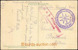 44231 - 1915? pohlednice přepravená FP s kulatým razítkem Nemocn