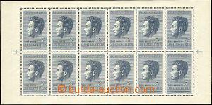 44239 - 1951 Pof.574PL Fučík, 12-blok, TV na ZP 8 nedotisk šrafy