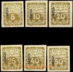44245 - 1919 Pof.DL1vz, DL2vz, DL4vz, DL5vz, DL7vz, DL8vz doplatní z