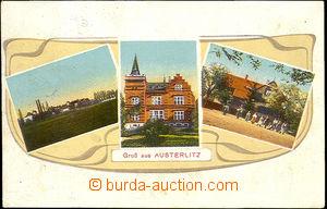 44258 - 1916 SLAVKOV U BRNA (Austerlitz) - barevná 3-okénková, je