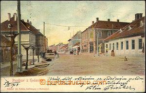 44263 - 1903 Hodonín  street, barvený, long address, Us, on revers