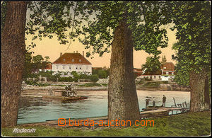44264 - 1932 Hodonín  ferry over river, color, Us, only slightly bum