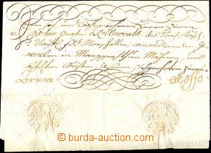 44275 - 1761 skládaný dopis Ex offo adresovaný na Kajetána hrab�
