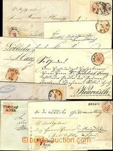 44298 - 1850-? sestava 10ks skládaných dopisů vyfr. známkami I.e