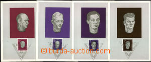 44299 - 1957-58 GERMANY - GDR  comp. 8 pcs of Maximum Card protifaši