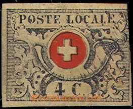 44306 - 1849 Mi.1, Poštovní trubka 4C tzv. Waadt, vpravo těsný střih