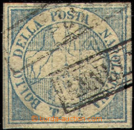 44307 - 1860 Mi.9, Savoy Cross, light blue ?, 1/2T, unattested, with