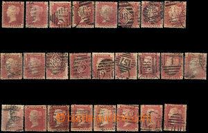 44314 - 1858 Mi.16, sestava 25ks známek s písmeny ve všech rozíc
