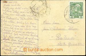 44337 - 1909 vyfrankovaná pohlednice s razítkem KuK Feldpost Expos