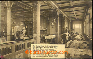 44352 - 1928 KRKONOŠE - bouda Prince Jindřicha 1410m, interiér resta