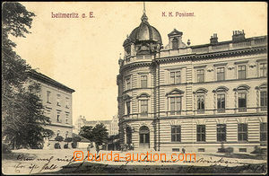 44359 - 1914 Litoměřice, post off.,  B/W, used, sent by FP, well p