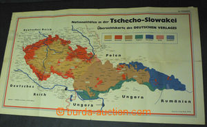 44367 - 1938 map nationality Czechoslovakia, issued in Germany, 1:1,