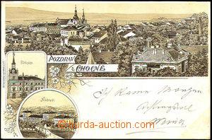 44415 - 1899 Choceň, monochrome 3-views lithography, i.a. railway-s