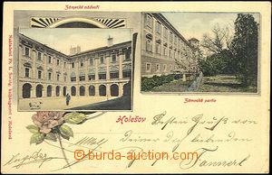44419 - 1903 Holešov, 2-views color collage, view of castle, long a