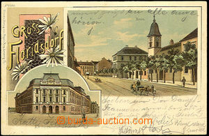 44422 - 1902 Florisdorf u Vídně, 2-okénková, barevná koláž, D