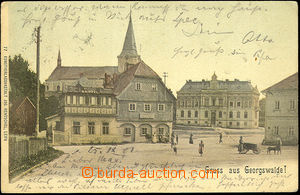 44427 - 1901 Georgswalde (Jiříkov), coloured view of square, long ad