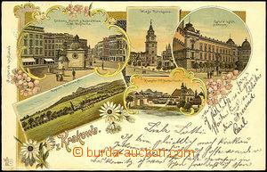 44505 - 1904 Krakow, barevná kolážová lito, 5-záběrová, DA, p